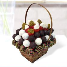 Çilekli Çikolata Sepeti