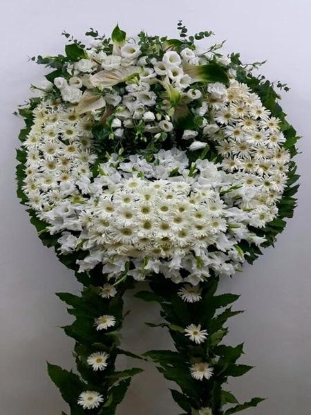 Lüks Cenaze Çelengi Beyaz