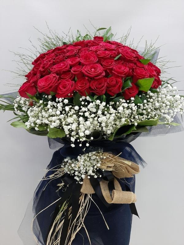 101 Gül Buketi İzmir İsteme Söz Nişan Çiçeği