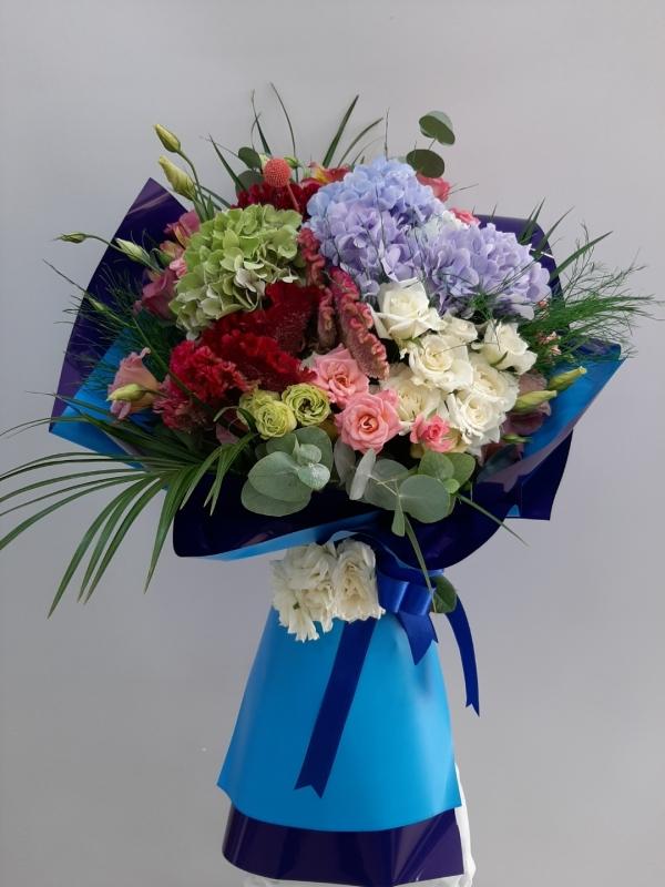 Ortanca Güller Garnitür Çiçek Buketi