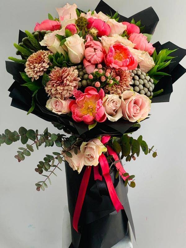 Şakayık Nişan İsteme Çiçek Buketi