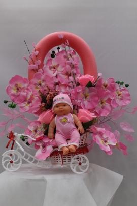 Kız Bebek Yapay Çiçek