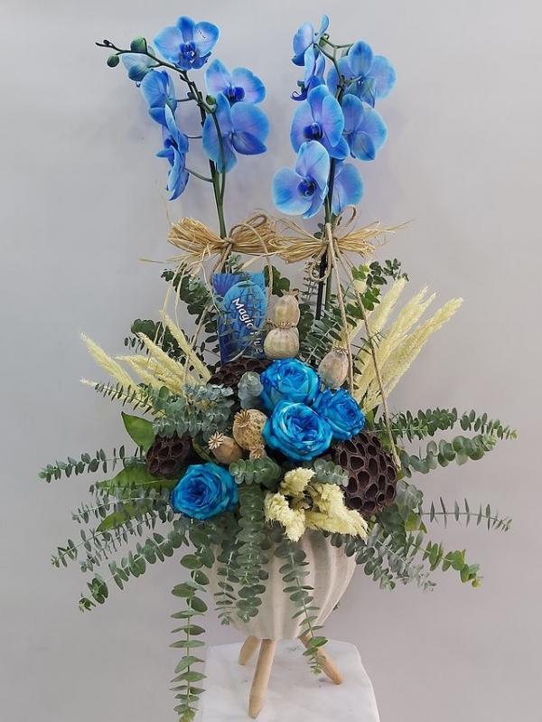 Mavi Orkide Aranjmanı
