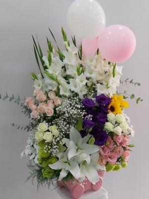 Hoşgeldin Kız Bebek Çiçeği