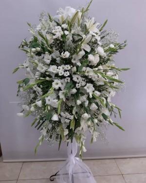 Düğün Çiçeği Beyaz Ferforje
