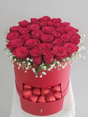 Kutuda Güller Kırmızı
