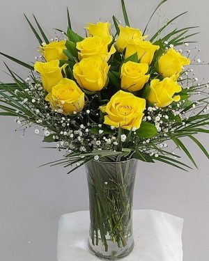 Vazoda Sarı Güller İthal Özel