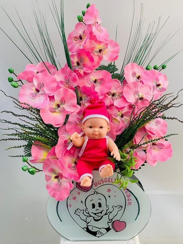 Kız Bebek İçin Yapay Çicek